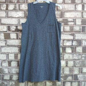 NWT Madewell sleeveless gray dress size medium